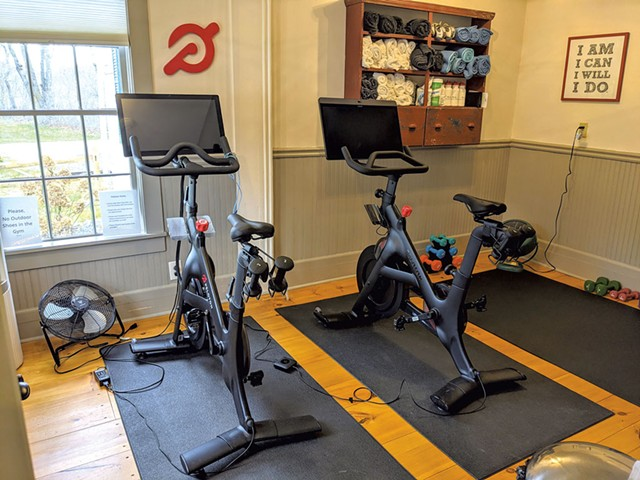 Workout space - COURTESY OF ROCKWELL'S RETREAT