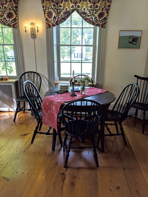 Dining area in the tavern - COURTESY OF ROCKWELL'S RETREAT