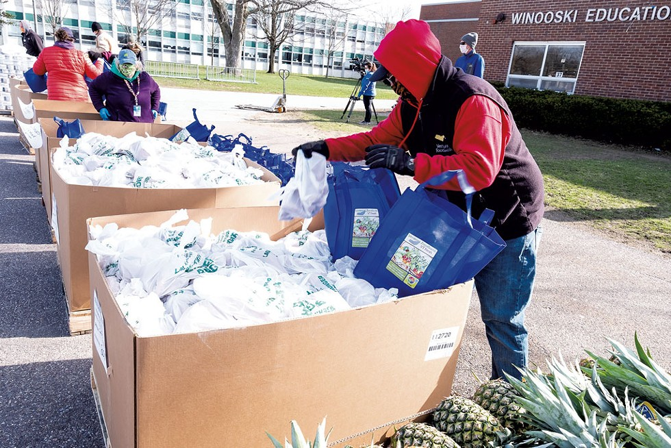 Vermont Foodbank distribution in Winooski - COURTESY OF THE VERMONT FOODBANK