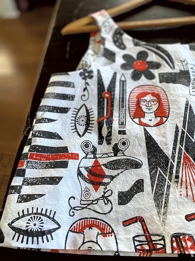 A Beenanza Design block-printed Shirt - COURTESY OF BETHANY ANDREWS-NICHOLS