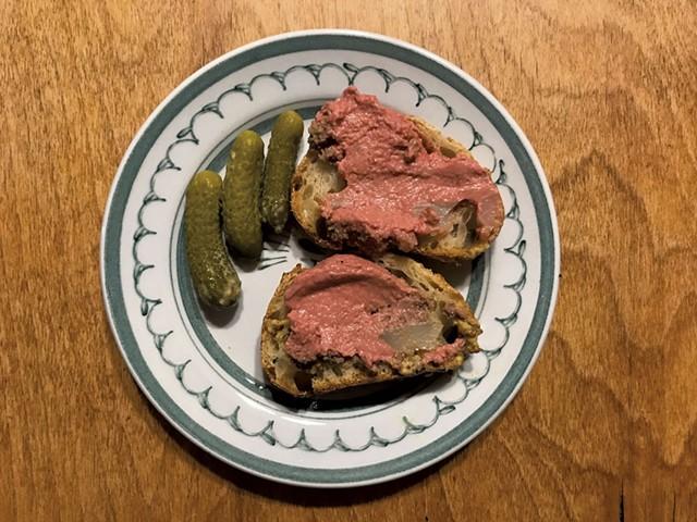 Chicken liver mousse from Dedalus Wine Shop, Market & Bar - SALLY POLLAK ©️ SEVEN DAYS