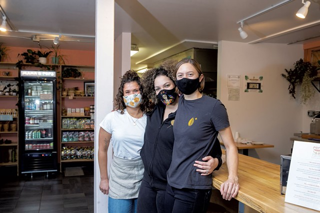 From left: Abby Portman, Maria Lara-Bregatta and Emily Portman - JAMES BUCK