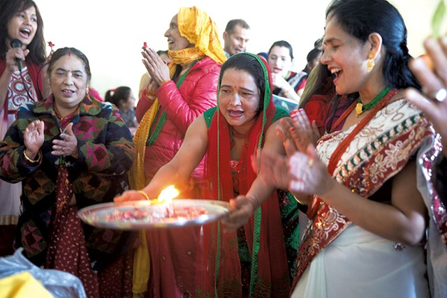 Saraswati Puja at the O'Brien Community Center - JAMES BUCK