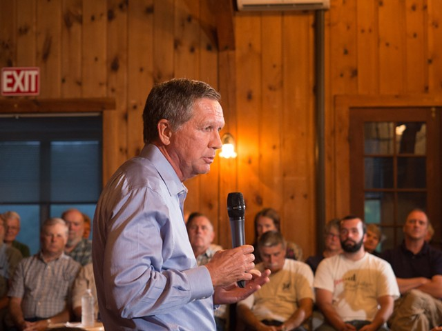 Republican presidential candidate John Kasich campaigns in New Hampshire. - DREAMSTIME