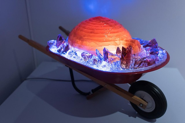 """""""Igloo a Go-Go"""" by Benjamin Wright - COURTESY OF ANDY DUBACK/ SHELBURNE MUSEUM"""