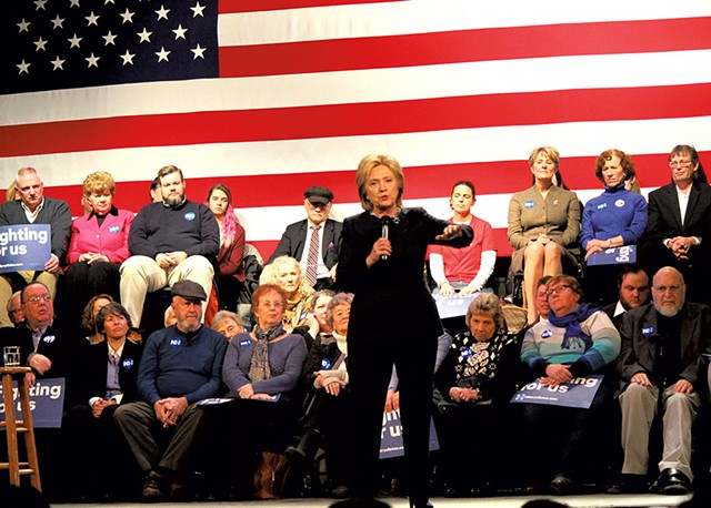 Hillary Clinton campaigning in Rochester, N.H. - PAUL HEINTZ
