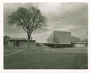 Marcel Beaudin's Trinity College chapel, dormitory and dining hall in Burlington - COURTESY OF VERMONT HISTORICAL SOCIETY