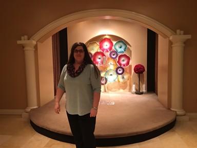Erin Gilday at the Planet Hollywood Resort & Casino chapel - PAUL HEINTZ