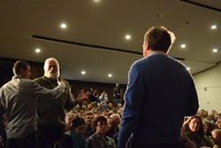 "Gregory Seward of Glover thanks Ohio Gov. John Kasich for ""taking the high road."" - TERRI HALLENBECK"