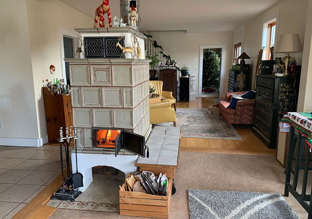 A Biofire masonry heater - COURTESY OF KEILANI LIME