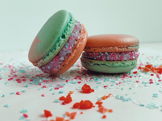 Fairy Floss macarons from Small Oven Pastries - COURTESY OF SMALL OVEN PASTRIES
