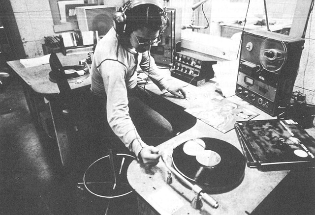 A WGDR-FM DJ in the mid-1970s - COURTESY OF WGDR
