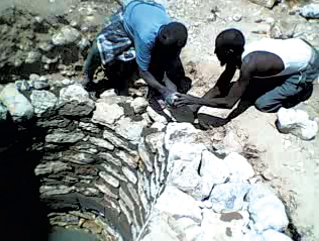 Building a well in the Dar Yalle village - COURTESY OF BÖSWELLNESS