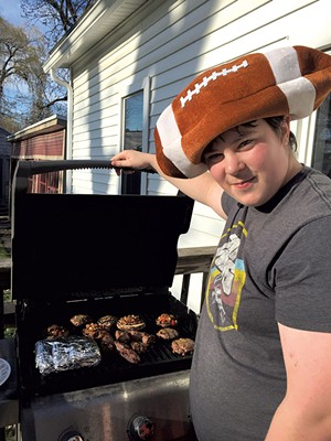 Graham Resmer at the grill - COURTESY OF CATHY RESMER