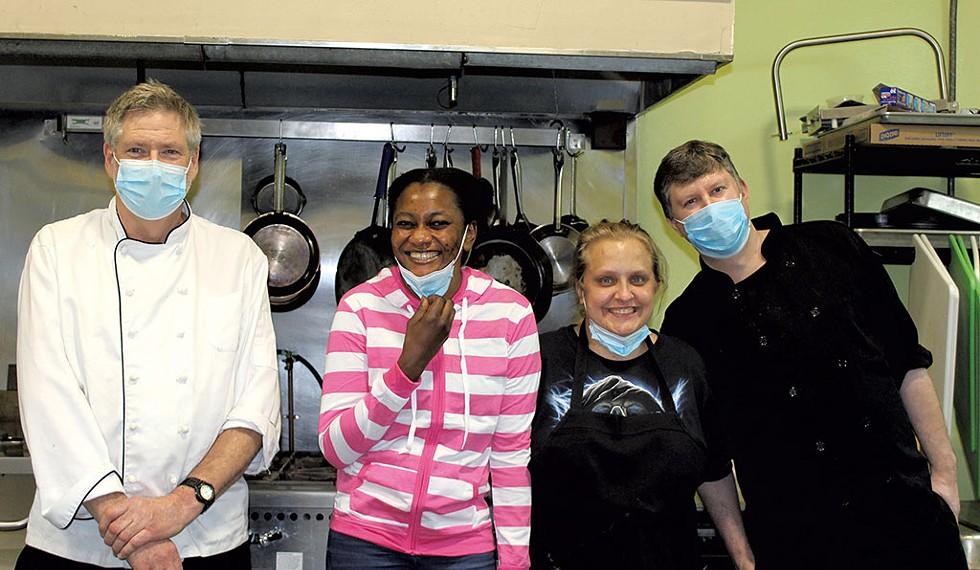 From left: chef Jim Logan, Roumanatao Hassane, Jessica Lamonda and Jason Upton - COURTESY OF ADELAIDE SZCZESIUL
