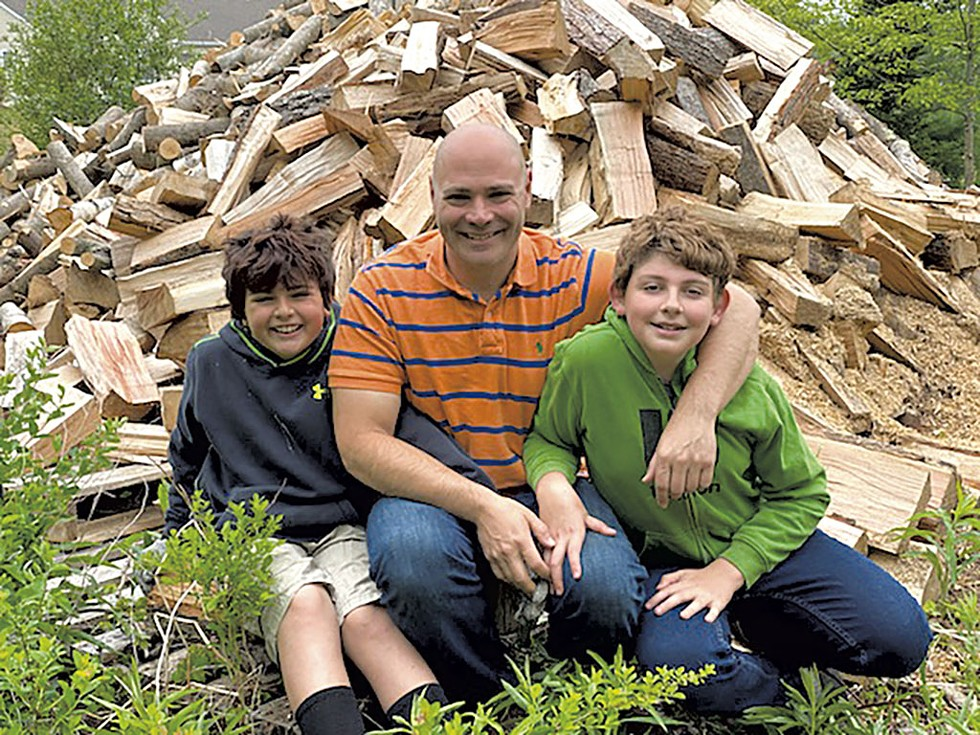 From left: Logan, Eric and Devin Axelrod - COURTESY