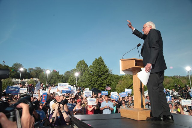 Sen. Bernie Sanders (I-Vt.) led rival Hillary Clinton 78-13 percent in a recent Vermont Public Radio poll. - MATTHEW THORSEN