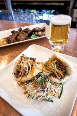 Pork buns, beer and duck drumettes - TOM MCNEILL