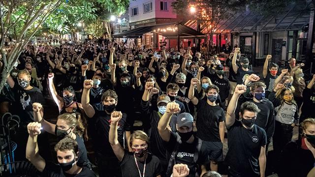 A rally on Church Street - FILE: JAMES BUCK