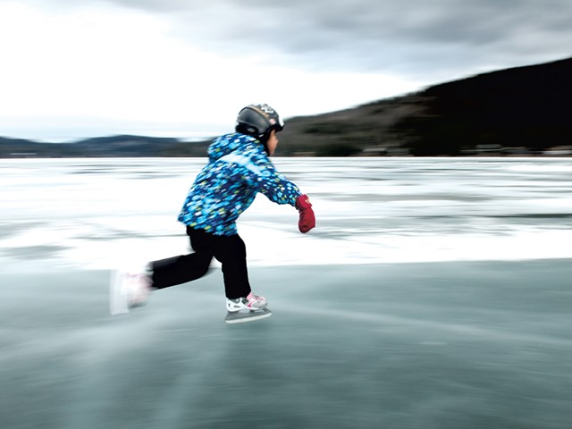 Ice skater on Lake Morey - FILE: CALEB KENNA