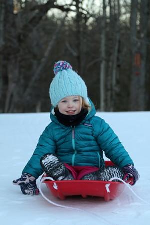 A young sledder - FILE: TRISTAN VON DUNTZ