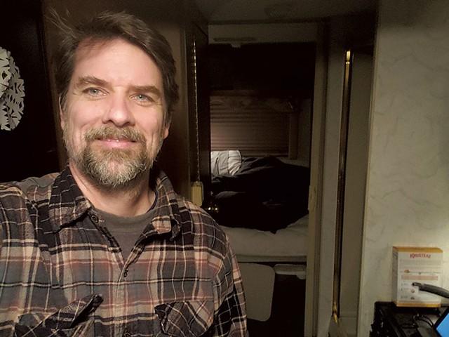Kevin McCallum in the RV - KEVIN MCCALLUM ©️ SEVEN DAYS