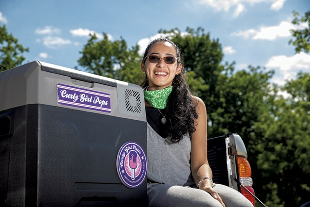 Arealles Ortiz of Curly Girl Pops - FILE : JAMES BUCK
