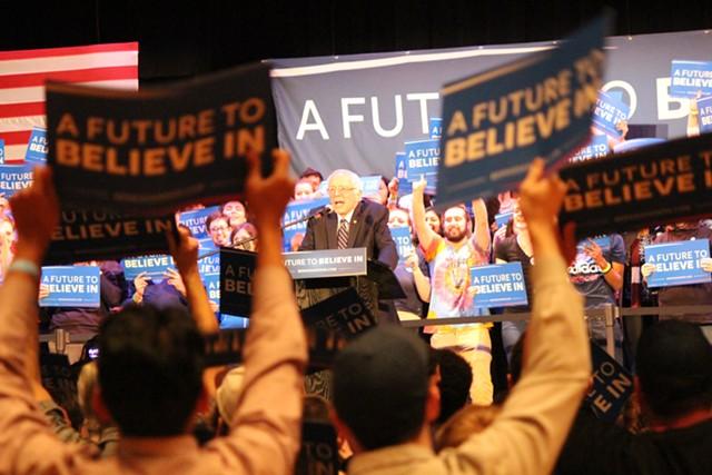 Sen. Bernie Sanders Friday in Columbia, S.C. - PAUL HEINTZ