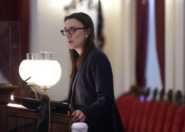 House Speaker Jill Krowinski - JEB WALLACE-BRODEUR