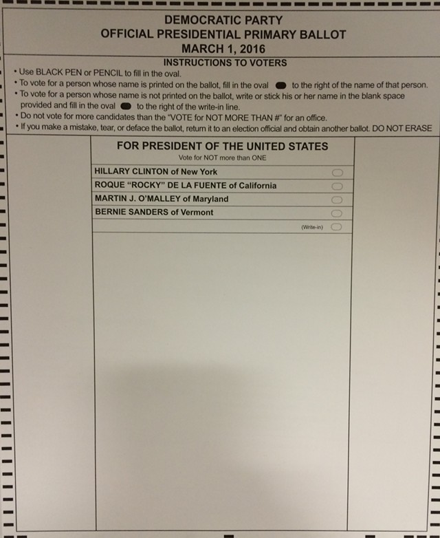 The ballot many Vermonters have been waiting for.