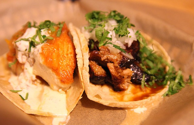 Fish and pork tacos - MATTHEW THORSEN
