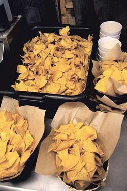 Freshly salted chips - MATTHEW THORSEN
