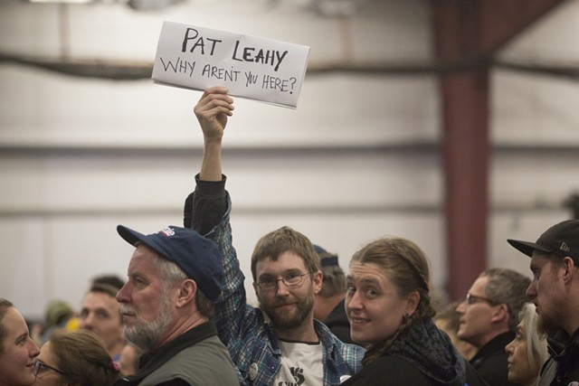 Seen at the Sanders rally - JAMES BUCK