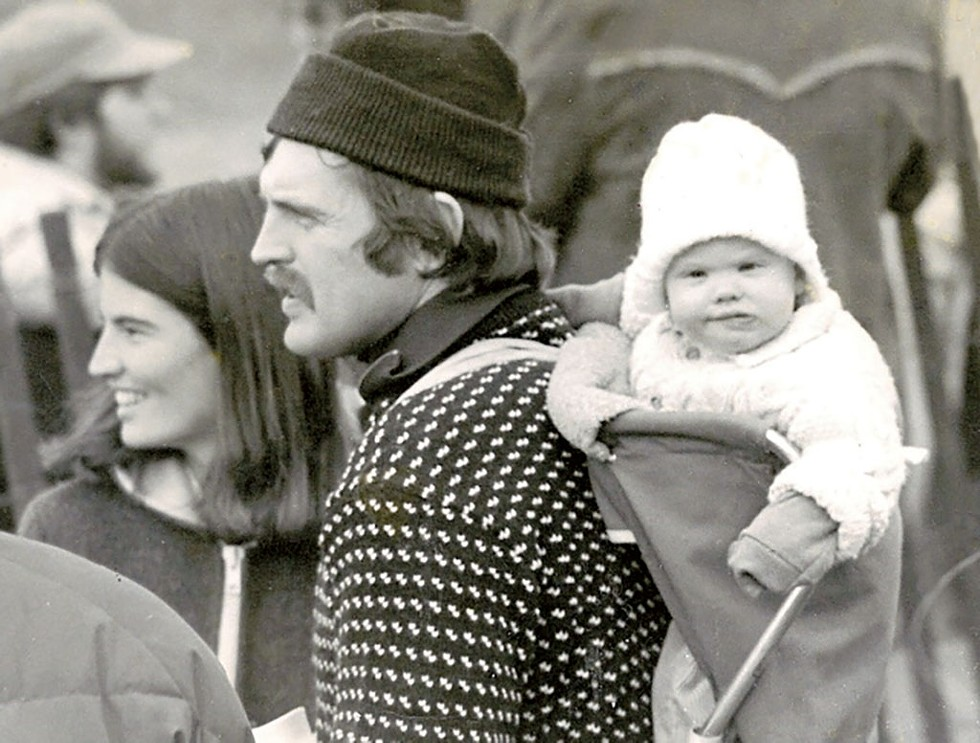 Baby Jane with her biological parents, Karl Lindholm and Jody Douglass - COURTESY