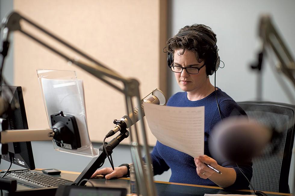 Jane Lindholm in the VPR studio - COURTESY OF DARIA BISHOP