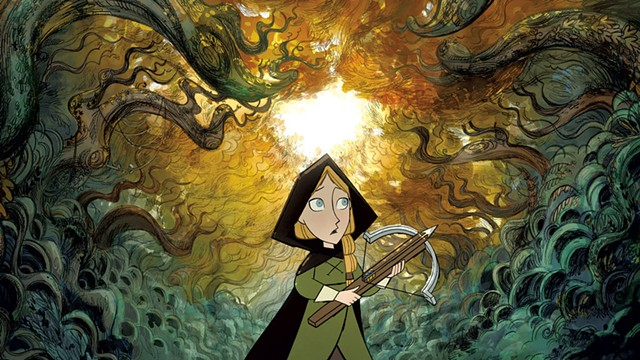 INTO THE WOODS A small girl ventures into a big forest and finds a delightfully un-Grimm fairy tale in Cartoon Saloon's latest. - COURTESY OF APPLE TV+