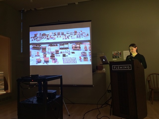 Andrea Rosen discusses Hinamatsuri sets - RACHEL ELIZABETH JONES