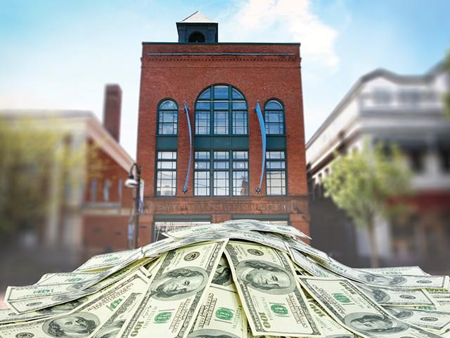 BCA Center behind a pile of money - JOHN JAMES