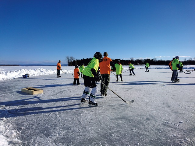 A hockey game at the Great Ice! festival, pre-pandemic - COURTESY OF THE GREAT ICE! COMMITTEE