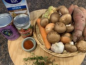 Ingredients for not-shepherd's pie - MELISSA PASANEN  SEVEN DAYS ©️ SEVEN DAYS