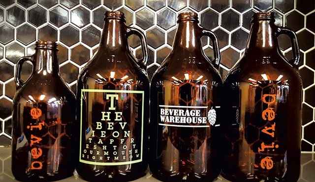 Beverage Warehouse growlers
