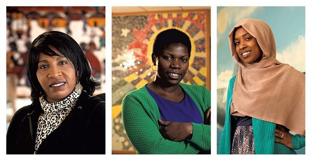 Sandrine Kibuey, Aline Mukiza and Isra Kassim - MATTHEW THORSEN