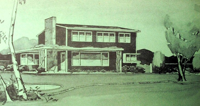 Ruth Freeman's solar house drawing. - COURTESY OF FREEMAN FRENCH FREEMAN