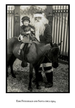 Edie with Santa circa 1924 - COURTESY PHOTO