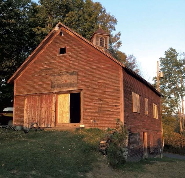 Barn at Firefly Farm at Burke Hollow, 1820-1860, before rehab - COURTESY OF BENJAMIN TIPTON
