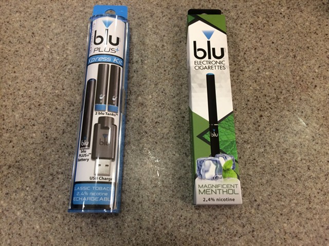 E-cigarettes available in a Montpelier convenience store - NANCY REMSEN