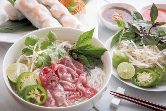 Pho tái and goi cuõn at Pho Son - COURTESY OF PHO SON
