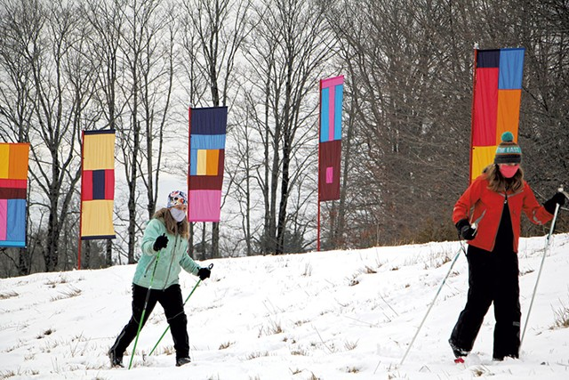 Open Air Gallery: Ski & Snowshoe Trail - COURTESY OF BEANA BERN