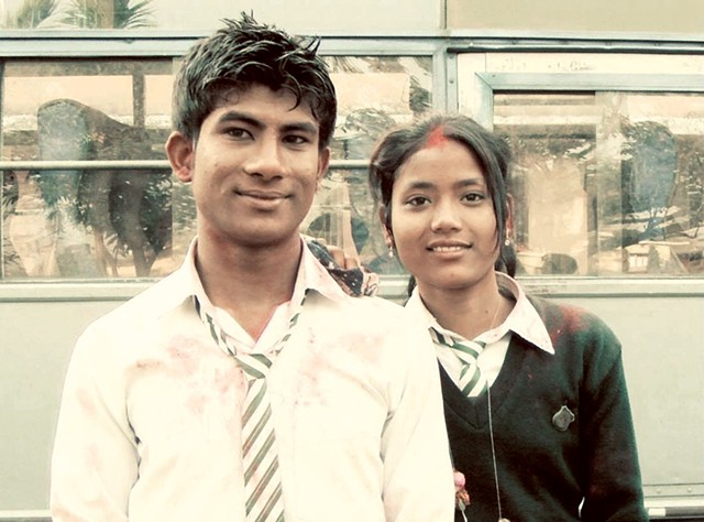 Jeetan Khadka and Shreepali Rajbanshi when they were students in Nepal - COURTESY