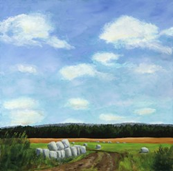 "Nancy Calicchio, ""Hay Bales"""